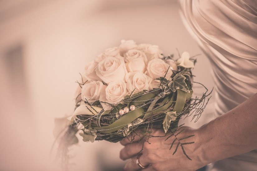 Hochzeitsstrauss aus Rosen.