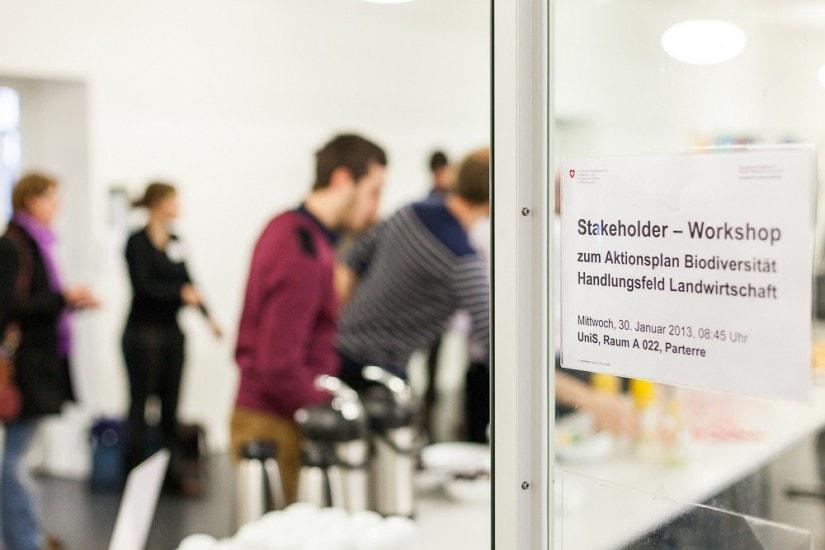 Tür mit Workshop-Infos