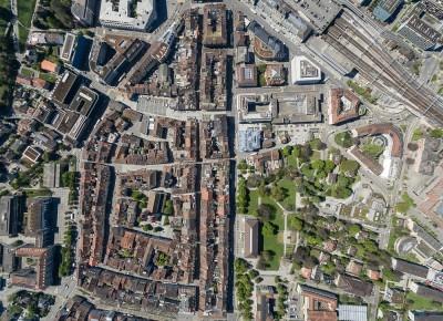 Drohnenaufnahmen über Winterthur