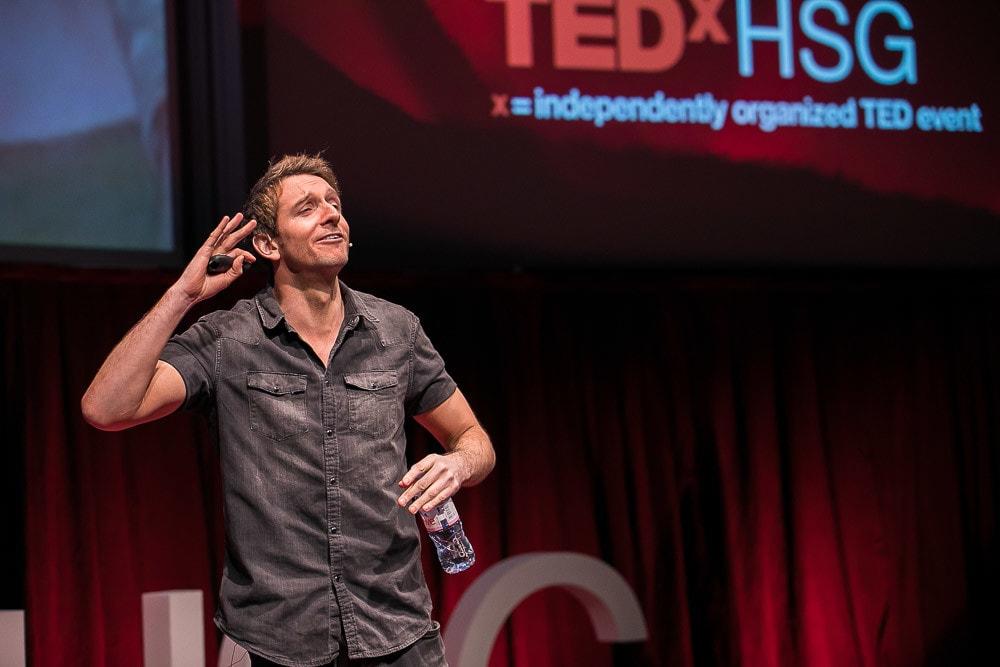 Mark Adams auf der TEDx Bühne