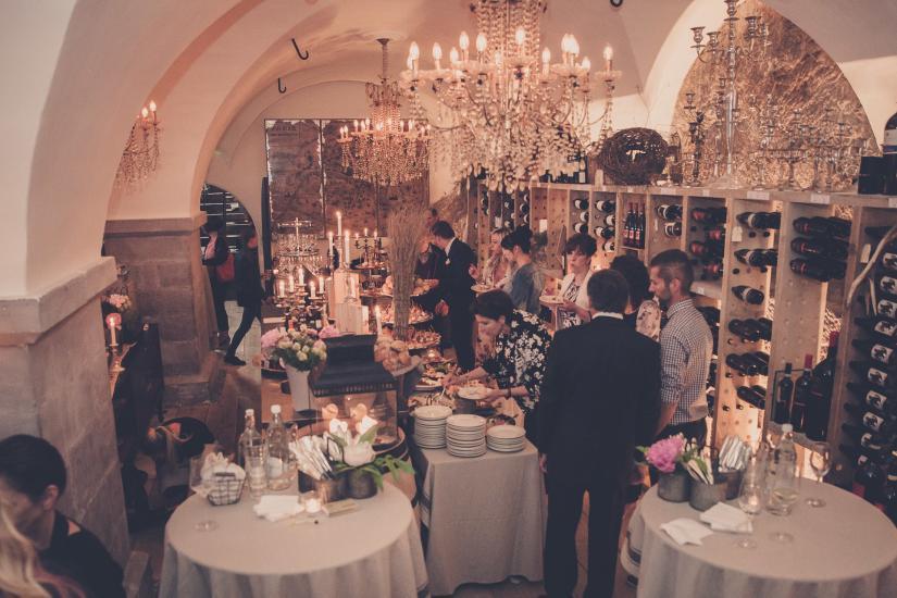 Weinkeller im Restaurant Emil