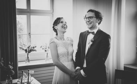 Hochzeitspaar bei der Zeremonie.