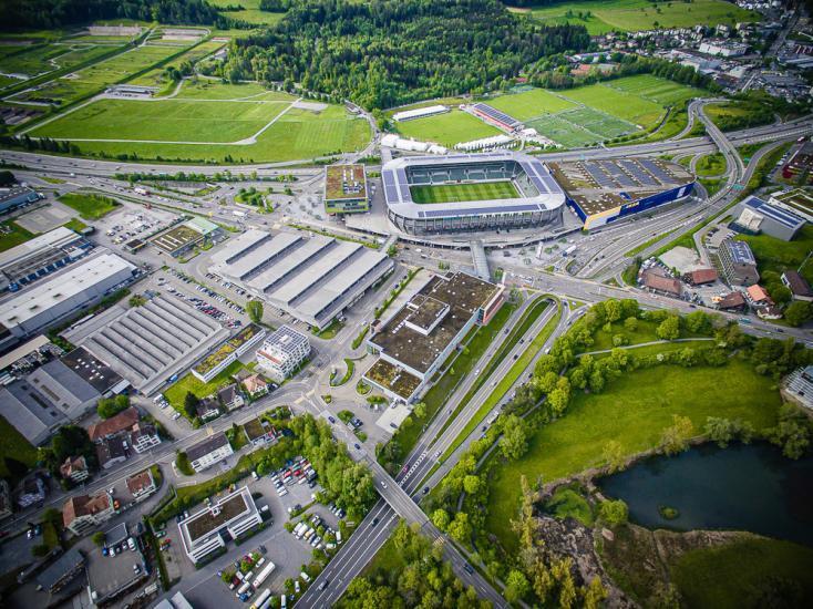 Drohnenaufnahme vom Kybunpark St.Gallen